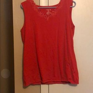 White Stag lace Sleevless tank top Woman's